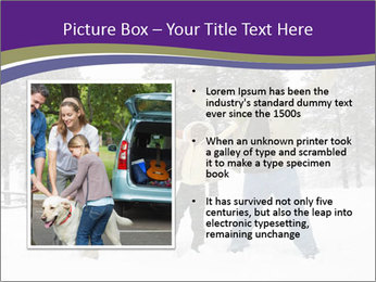 Family playing in the snow PowerPoint Templates - Slide 13