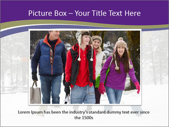 Family playing in the snow PowerPoint Templates - Slide 15