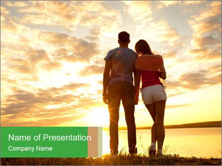 Portrait of a romantic PowerPoint Template