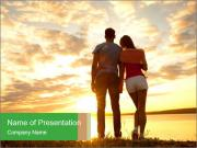 Portrait of a romantic PowerPoint Template
