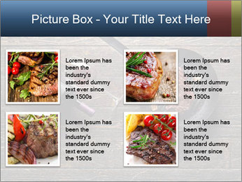 Beef steak in a grill pan PowerPoint Template - Slide 14