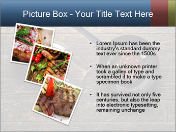 Beef steak in a grill pan PowerPoint Template - Slide 17