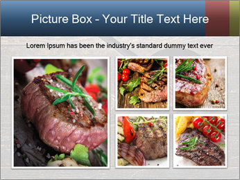Beef steak in a grill pan PowerPoint Template - Slide 19