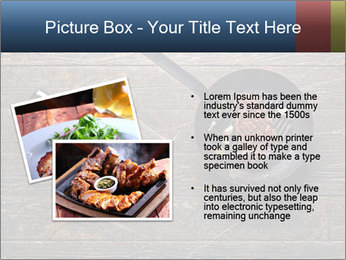Beef steak in a grill pan PowerPoint Template - Slide 20