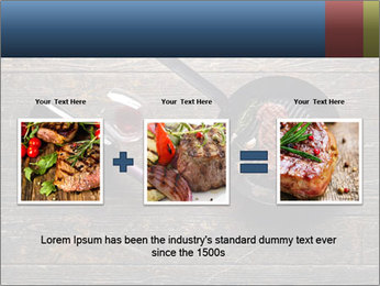 Beef steak in a grill pan PowerPoint Template - Slide 22