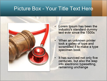 Gavel and stethoscope PowerPoint Template - Slide 13