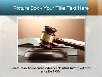 Gavel and stethoscope PowerPoint Template - Slide 16