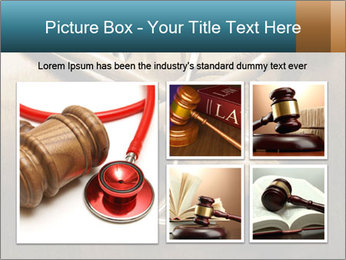 Gavel and stethoscope PowerPoint Template - Slide 19