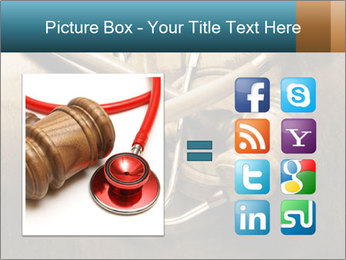 Gavel and stethoscope PowerPoint Template - Slide 21