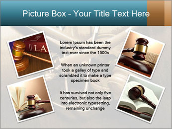 Gavel and stethoscope PowerPoint Template - Slide 24