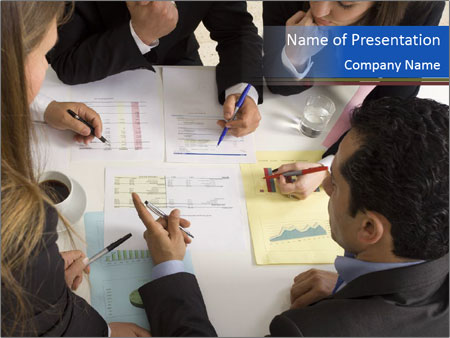 Businesspeople working PowerPoint Template