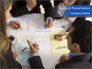 Businesspeople working PowerPoint Templates