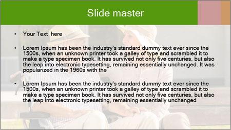 Senior disabled man PowerPoint Template - Slide 2