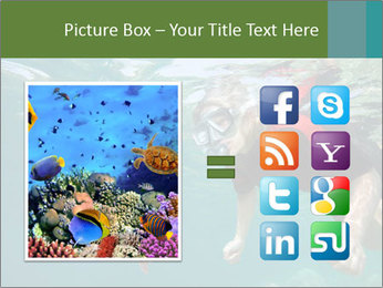 Young woman snorkeling PowerPoint Template - Slide 21