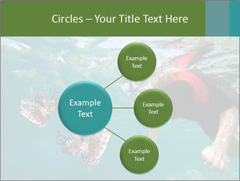 Young woman snorkeling PowerPoint Template - Slide 79