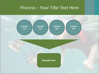 Young woman snorkeling PowerPoint Template - Slide 93