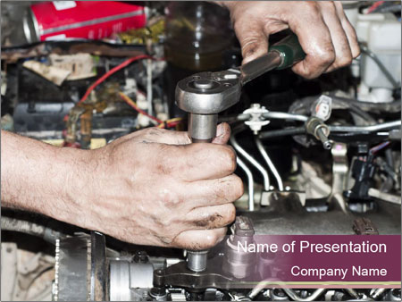 Engine repair PowerPoint Template