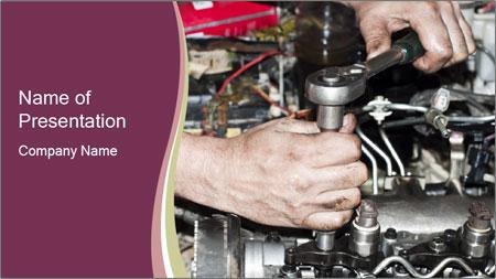 Engine repair PowerPoint Template