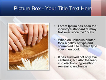 Blue Nail Color PowerPoint Template - Slide 13