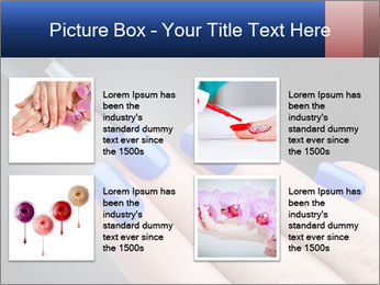 Blue Nail Color PowerPoint Template - Slide 14