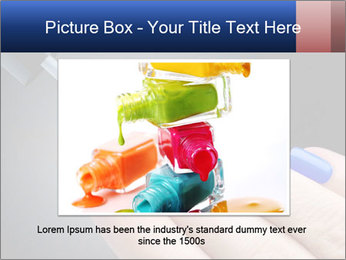 Blue Nail Color PowerPoint Template - Slide 15