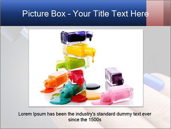 Blue Nail Color PowerPoint Template - Slide 16