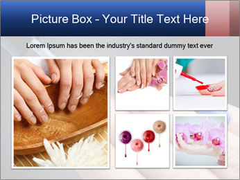 Blue Nail Color PowerPoint Template - Slide 19