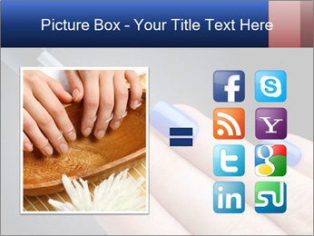Blue Nail Color PowerPoint Template - Slide 21