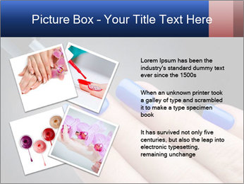 Blue Nail Color PowerPoint Template - Slide 23