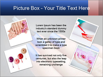 Blue Nail Color PowerPoint Template - Slide 24