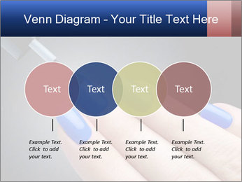 Blue Nail Color PowerPoint Template - Slide 32