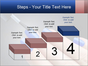 Blue Nail Color PowerPoint Template - Slide 64