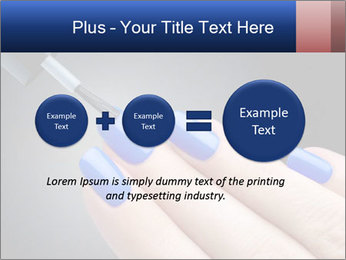 Blue Nail Color PowerPoint Template - Slide 75