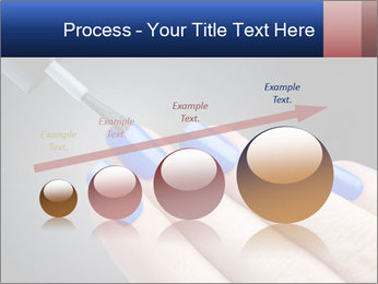 Blue Nail Color PowerPoint Template - Slide 87