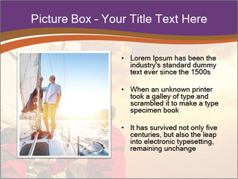 Sailor And Golden Sunset PowerPoint Templates - Slide 13