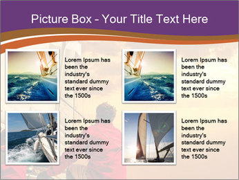 Sailor And Golden Sunset PowerPoint Templates - Slide 14