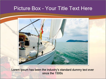 Sailor And Golden Sunset PowerPoint Template - Slide 15