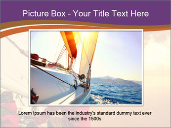 Sailor And Golden Sunset PowerPoint Templates - Slide 16