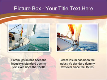 Sailor And Golden Sunset PowerPoint Templates - Slide 18