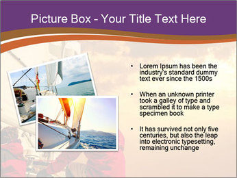 Sailor And Golden Sunset PowerPoint Templates - Slide 20