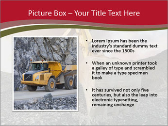 Excavator on a quarry tip PowerPoint Templates - Slide 13
