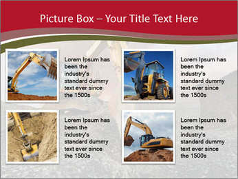 Excavator on a quarry tip PowerPoint Templates - Slide 14