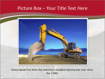 Excavator on a quarry tip PowerPoint Templates - Slide 15
