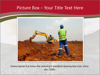 Excavator on a quarry tip PowerPoint Templates - Slide 16
