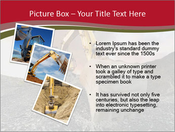 Excavator on a quarry tip PowerPoint Templates - Slide 17