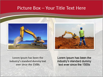 Excavator on a quarry tip PowerPoint Templates - Slide 18