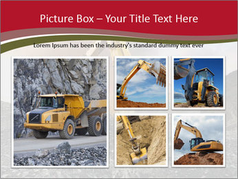 Excavator on a quarry tip PowerPoint Templates - Slide 19