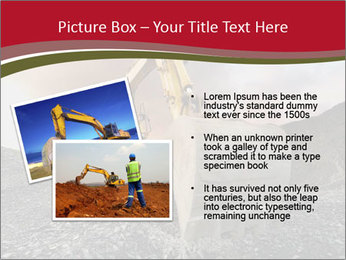 Excavator on a quarry tip PowerPoint Templates - Slide 20