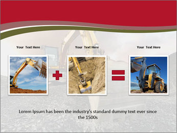 Excavator on a quarry tip PowerPoint Templates - Slide 22