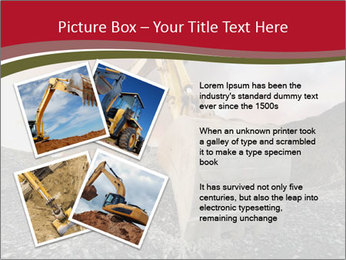 Excavator on a quarry tip PowerPoint Template - Slide 23